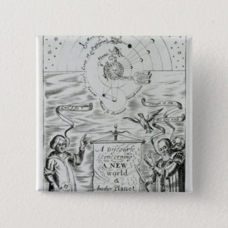 'A Discourse concerning New World Planet' 15 Cm Square Badge