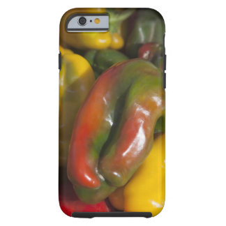 a display of colourful peppers for sale at the tough iPhone 6 case