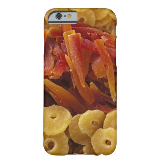 a display of preserved (candied) pineapple and barely there iPhone 6 case
