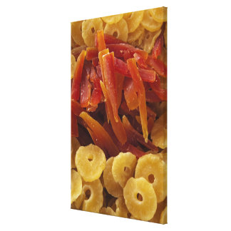 a display of preserved (candied) pineapple and canvas print