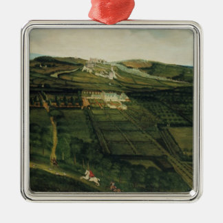 A Distant View of Corfe Castle Christmas Ornament