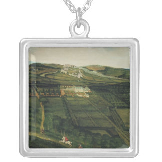 A Distant View of Corfe Castle Silver Plated Necklace
