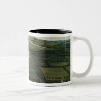 A Distant View of Corfe Castle Two-Tone Coffee Mug
