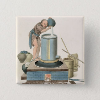 A Distiller, plate 24 from 'The Costume of China', 15 Cm Square Badge