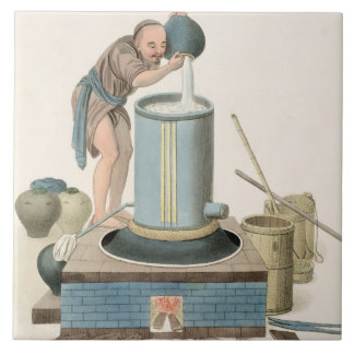 A Distiller, plate 24 from 'The Costume of China', Large Square Tile