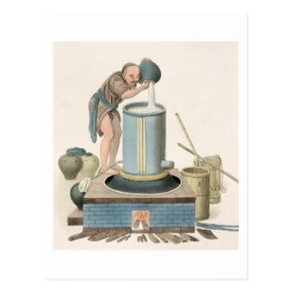 A Distiller, plate 24 from 'The Costume of China', Postcard