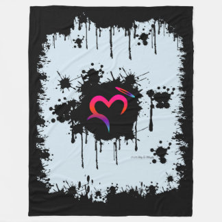 A. Ditched Oz Heart & Halo Splatter Fleece Blanket