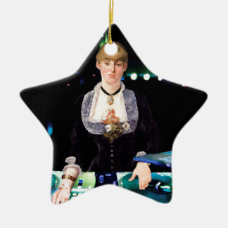 A DJ at the Folies-Bergère Christmas Ornament