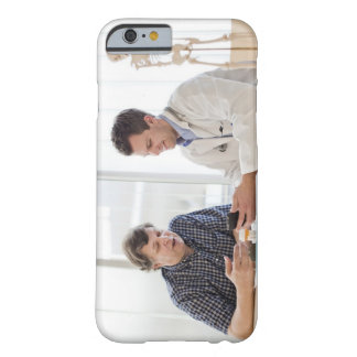 A doctor meeting with a patient and talking and barely there iPhone 6 case
