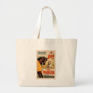 "A Dog in ""The Manager"" Large Tote Bag"