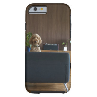 A dog in the riving room tough iPhone 6 case
