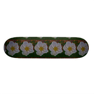 A dog rose flower 21.6 cm skateboard deck