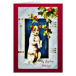 A dog standing greeting card