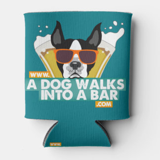 A Dog Walks into a Bar - Color Beer Coozie