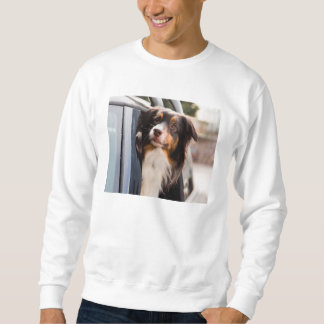 A Dog With Her Head Out of a Car Window Sweatshirt