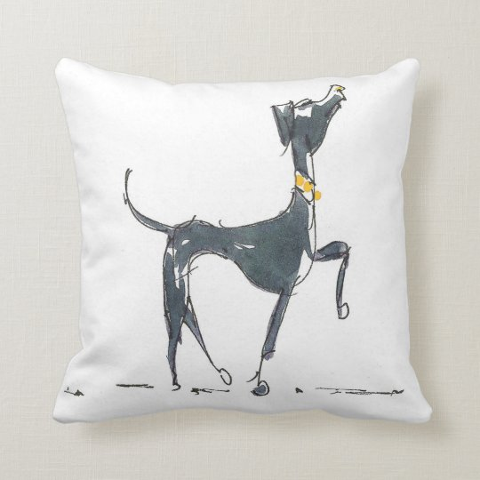 A dog with yellow collar American Mojo Pillow
