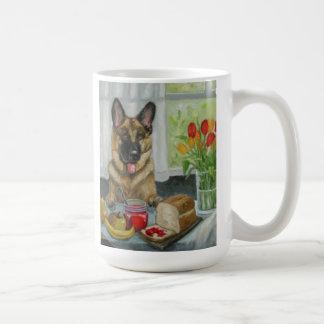 """A Doggie Snack"" beautiful german shepherd Basic White Mug"