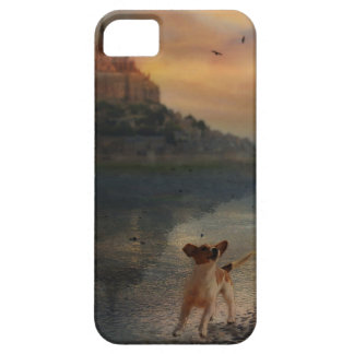 A doggy at the beach barely there iPhone 5 case