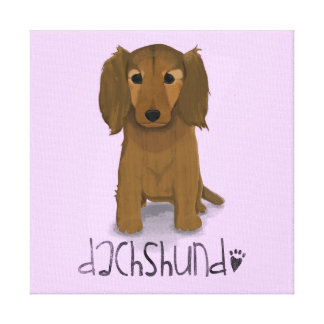 A Dogs Life - Dachshund Canvas Print