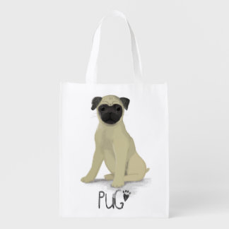 A Dogs Life - Pug Reusable Grocery Bag