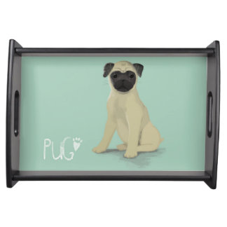 A Dogs Life - Pug Serving Tray