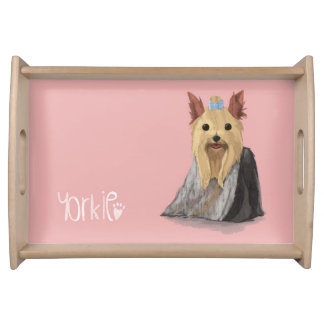 A Dogs Life - Yorkie (Long Haired) Serving Tray