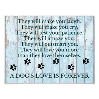 A Dogs Love is Forever Photo Print