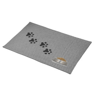 A Dogs Placemat (grey polkadot)