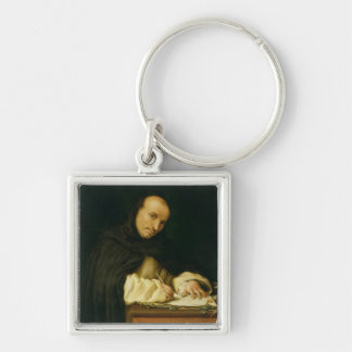 A Dominican Steward, 1526 Silver-Colored Square Key Ring