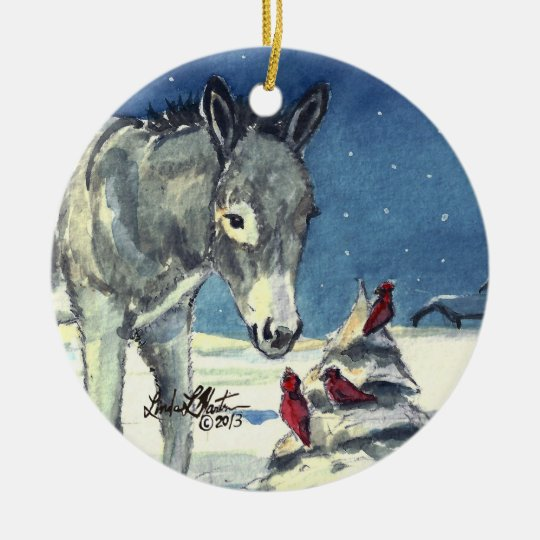 A Donkey For Christmas Ornaments