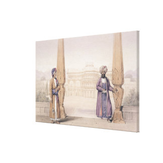 A Dooranee Noble and his Attendant at the Palace Gallery Wrap Canvas