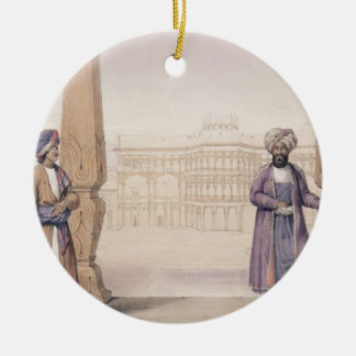 A Dooranee Noble and his Attendant at the Palace i Christmas Ornament