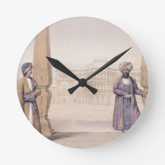 A Dooranee Noble and his Attendant at the Palace i Round Clock