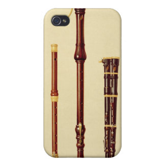 A double flageolet, a German flute, a bass recorde Cover For iPhone 4