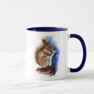A Douglas Squirrel, watercolor pencil
