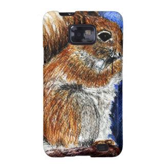 A Douglas Squirrel watercolor pencil Galaxy S2 Case