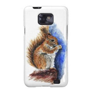 A Douglas Squirrel watercolor pencil Galaxy SII Cover