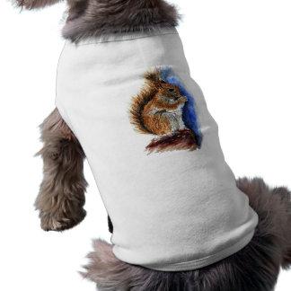 A Douglas Squirrel watercolor pencil Pet Clothes