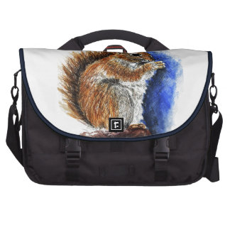 A Douglas Squirrel watercolor pencil Bag For Laptop