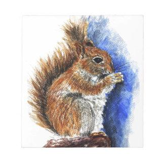 A Douglas Squirrel watercolor pencil Memo Note Pads