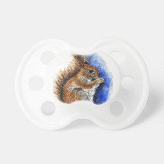 A Douglas Squirrel watercolor pencil Pacifiers