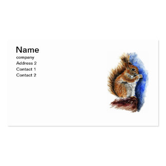 A Douglas Squirrel, watercolor pencil Pack Of Standard Business Cards