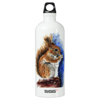 A Douglas Squirrel, watercolor pencil SIGG Traveller 1.0L Water Bottle