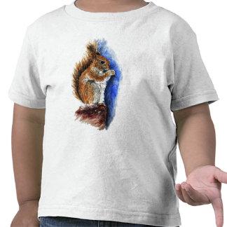 A Douglas Squirrel, watercolor pencil T Shirts
