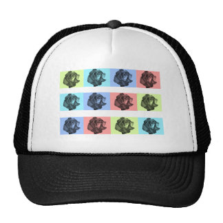 A Dozen Abstract Roses Hat