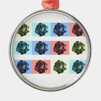 A Dozen Abstract Roses Christmas Ornament