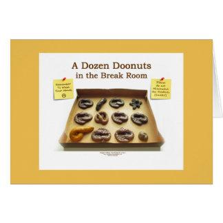 A Dozen Doonuts in the Break Room Greeting Card