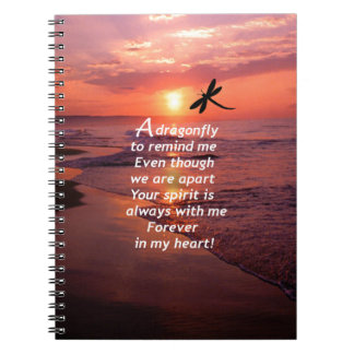 A Dragonfly to Remind Me Notebook