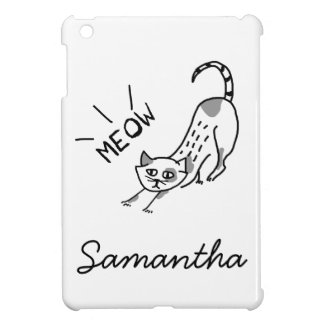 A Drawing Of A Meowing Cat iPad Mini Cover