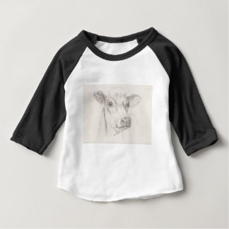 A drawing of a young cow baby T-Shirt